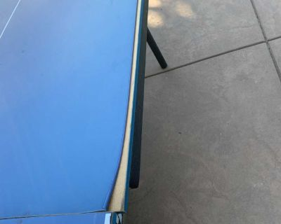 Old ping pong table
