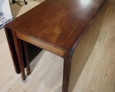 Antique Drop Leaf Table - Cherry Wood