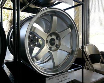 Miro 398 Silver 18x9.5 5-114.3 +34mm Rays Volk Racing Te37 Style