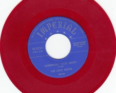 LOVE NOTES ~ Surrender Your Heart *Mint-45*RARE RED WAX !