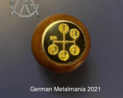 NOS wood shift knob with shift pattern