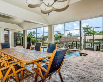 Gorgeous waterfront home w/atrium-covered private pool/firepit/dock & boat slip! - Pelican