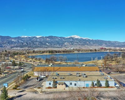 Lakefront redevelopment project with Pikes Peak views