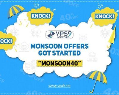VPS9 Networks Monsoon sale 2019 - FLAT 40% OFF