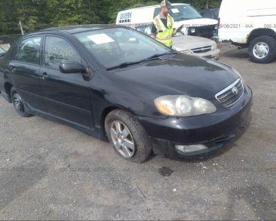 Salvage Black 2007 Toyota Corolla