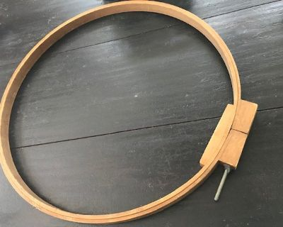 antique wooden embroidery hoop