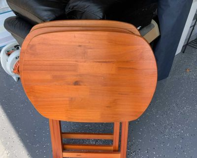(3) TV trays. All in good condition. All for $8 or $3 each