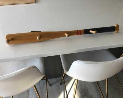 Solid wood baseball bay hooks EUC!!