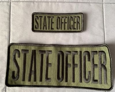 FS State Law Enforcement Officer Patches, 4x10 and 2X5, OD Green