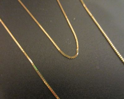 """NEW 14k Solid Gold Necklace 24"""" Box Chain 24"""" 2.8 GRAMS"""