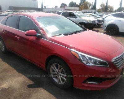 Salvage Red 2017 Hyundai Sonata