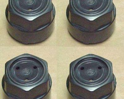 84-92 Firebird Trans Am Gta Gn Gnx Wheel Center Hub Cap Caps Black Set Of 4