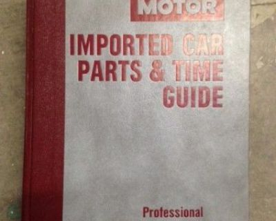 Motor Imported Car Parts & Time Guide 1980-1986 5th Edition