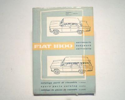 Fiat 1800 Sedan & Wagon New Old Stock Factory Spare Parts Catalog 110.271