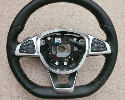FS: Sport Steering wheel, red stitching W205