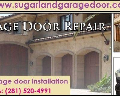 Call (972) 499-0304  Top Spring and Installation Garage Door Service $25.95  Sugar Land, 77498 TX
