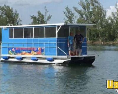 2020 American Pontoon Triton 27' Food Boat / Used Floating Food Truck