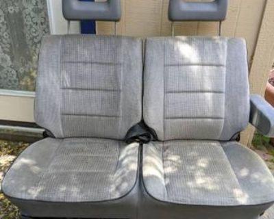 Gray VW Vanagon center bench seat