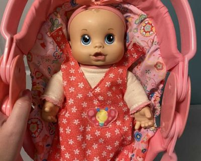 Baby Alive first doll newborn in carrier