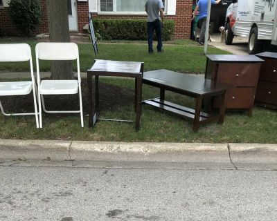 FREE tables and folding chairs
