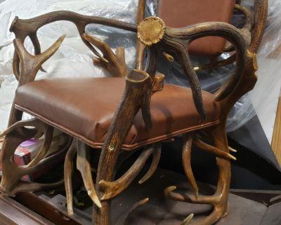 FS/FT Black Forest German antler chair
