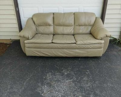 Dorm Room Basement Couch, real leather