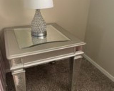 Mirrored end/night stand