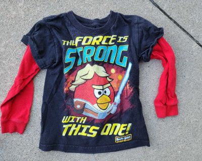Star Wars Angry Birds Size 4 shirt