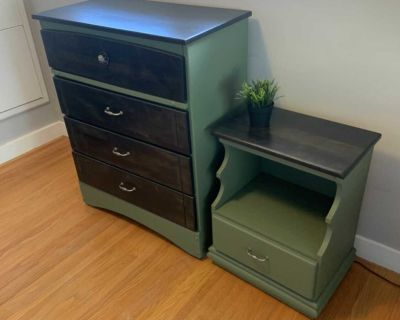 4 drawer Chest with nightstand