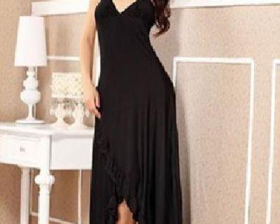 $35 Ruffle Trimmed Long Dress