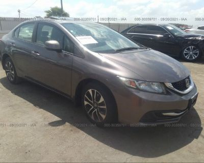 Salvage Gray 2013 Honda Civic Sdn