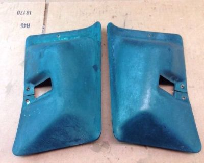 76-79 Ford Pickup Truck Green Seat Belt Retractor Covers 1976 - 1979