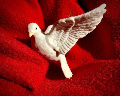 Ceramic Life-Like Turtle Dove Ornament