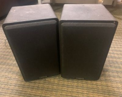 Bookshelf speakers (Micca PB42X) + Bluetooth adapter (Logitech)
