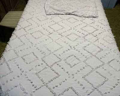 Twin XL quilt with sham and decorative pillow