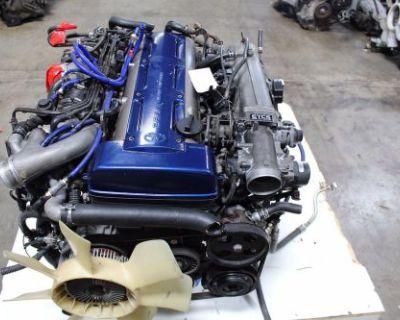94-97 Jdm Toyota Supra Mk4 2jz-gte Engine Twin Turbo 3.0l Rear Sump Jza80 Etcs