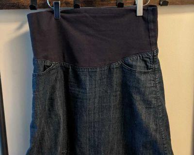 Thyme Maternity Jean Skirt