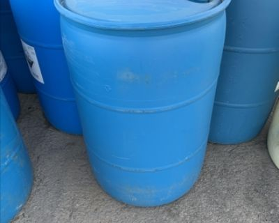 Poly 55 gallon drums