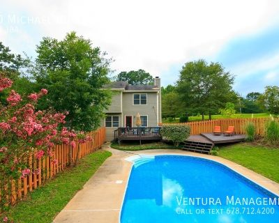 *RENOVATED 2020: FURNISHED: Beautiful Private 2-Story Home with Finished Basement & Pool on 3 Acres in Tyrone