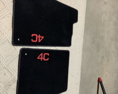 OEM floor mats black with red stitching - New price