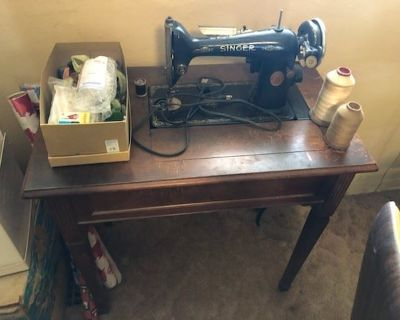 Estate sale with vintage and antiques