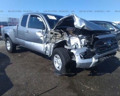 Salvage Silver 2019 Toyota Tacoma 2wd