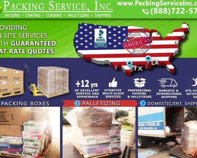 Packing Service, Inc. Shipping Services with Wooden Boxes and Industrial Crating - Lake Charles, La