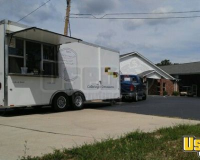 2015 - 8.5' x 28' Loaded Commercial Kitchen Food Concession Trailer
