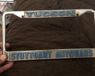 License plate frame Tucson Stugart Autohaus