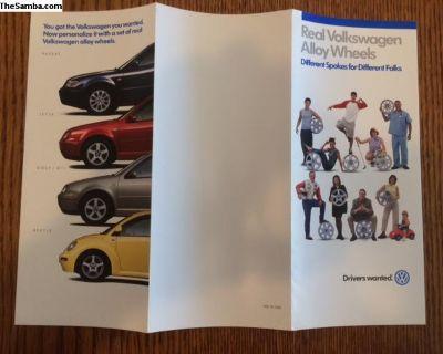 VW Alloy Wheel Trifold Brochure