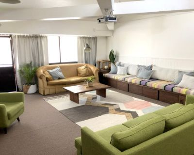 Spacious, light filled loft space with comfortable seating in the heart of Silverlake., Los Angeles, CA