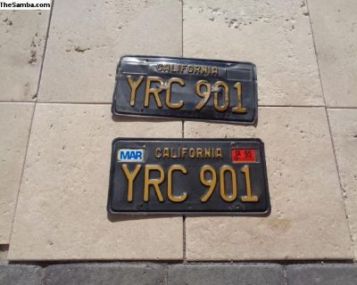 california black license plates