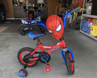 Toddler Spider-Man bike