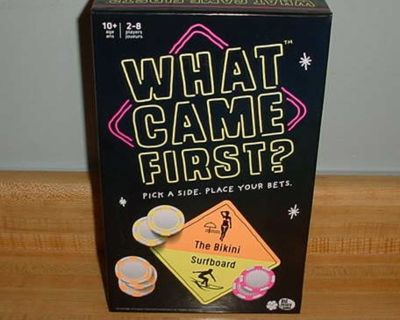 New What Came First? Party Trivia Board Game About Picking Sides & Betting Big! Feeling Lucky? Solve Great Mysteries: Did Arnie Come...